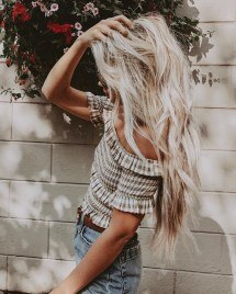 Long Hairstyle with Blonde