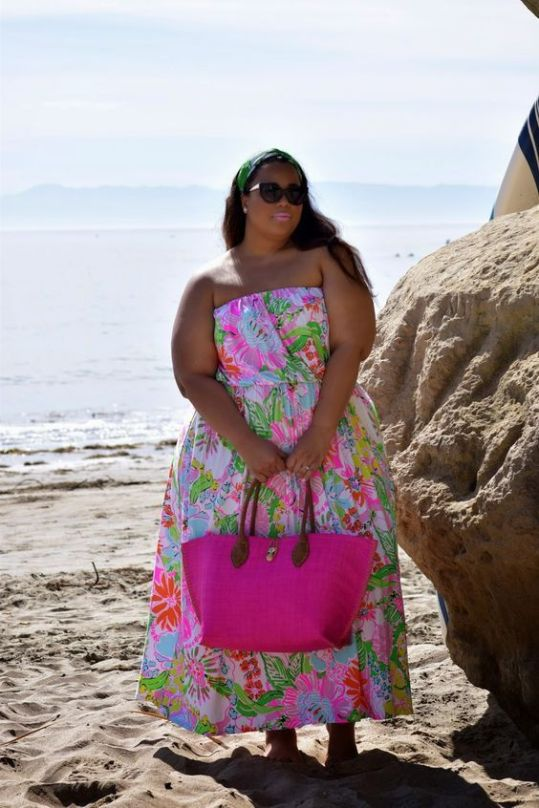 bright color summer outfits for bigger ladies