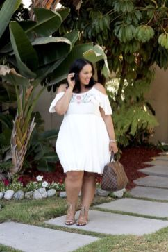 white cute plus size summer outfits