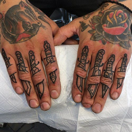 48   BEST SYMBOLS FINGERS TATTOOS FOR MEN