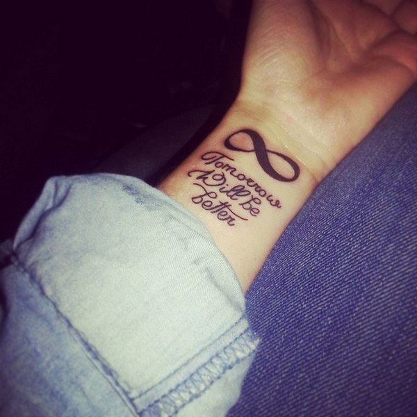 temporary samples available of infinity tattoos