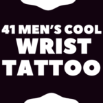 Men's  wrist tattoo