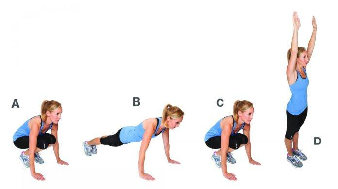 burpees you'll be covered in sweat