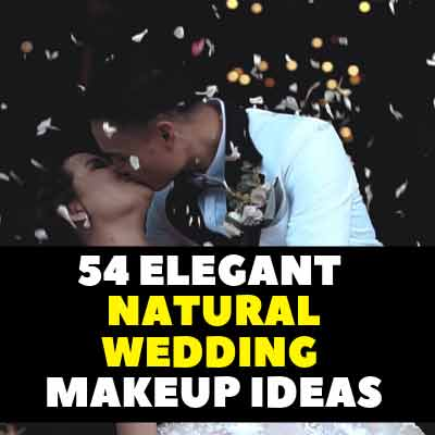 54 Elegant Natural Wedding Makeup Ideas