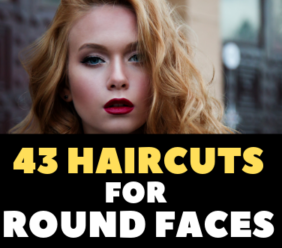 43 Haircuts for Round Faces Female Give Elegant Look