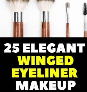 25 ELEGANT WINGED EYELINER MAKEUP SHAPE DESIGN