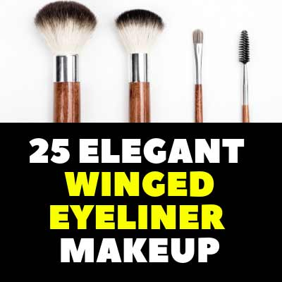 25 ELEGANT WINGED EYELINER MAKEUP