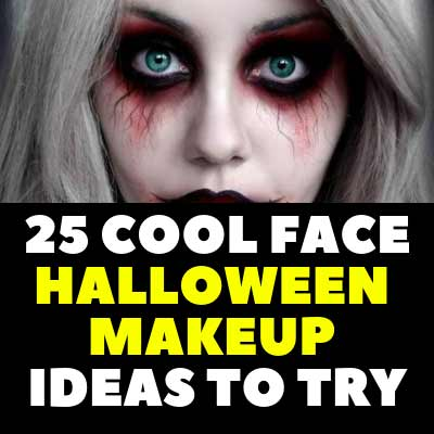 25 COOL FACE HALLOWEEN MAKEUP IDEAS TO TRY