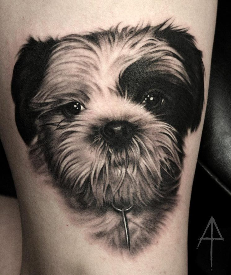 favorite dog remembrance tattoo for guys