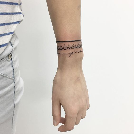 armband wrist female tattoo designs images