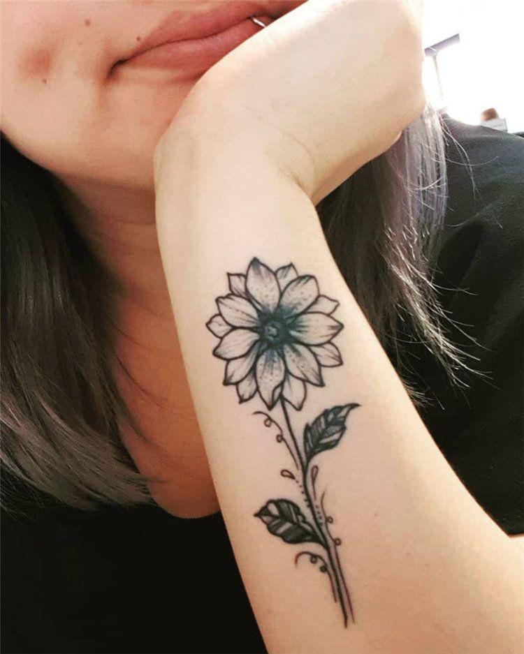 sunflower small body artwork for ladies design