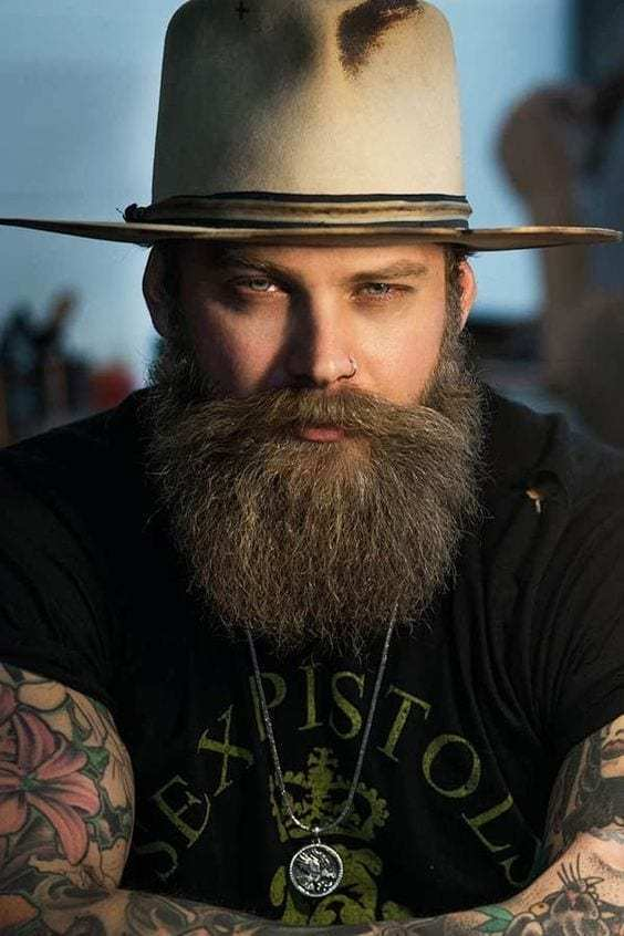 beard long chin short sides images 2021