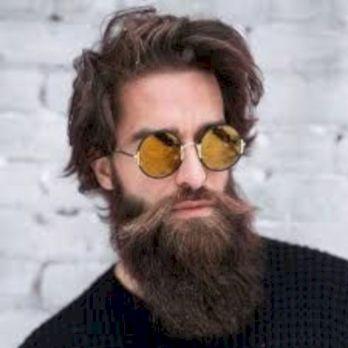 long beard and mustache look art