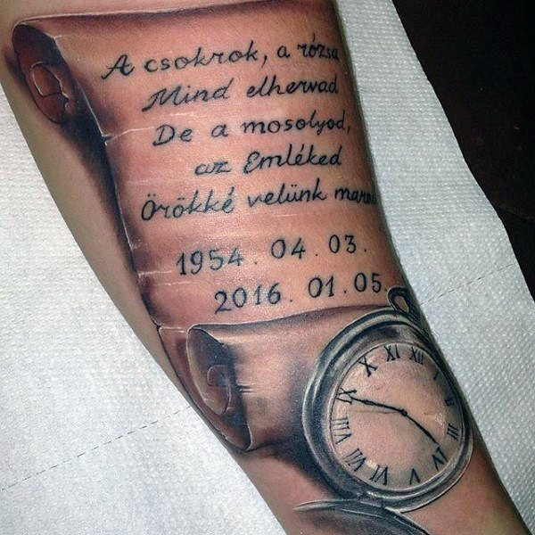 Scroll tattoos are consisted with