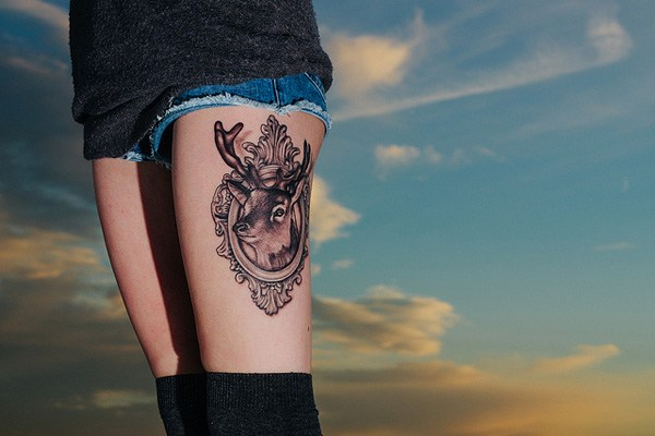 Deer tattoo can be worn by both women