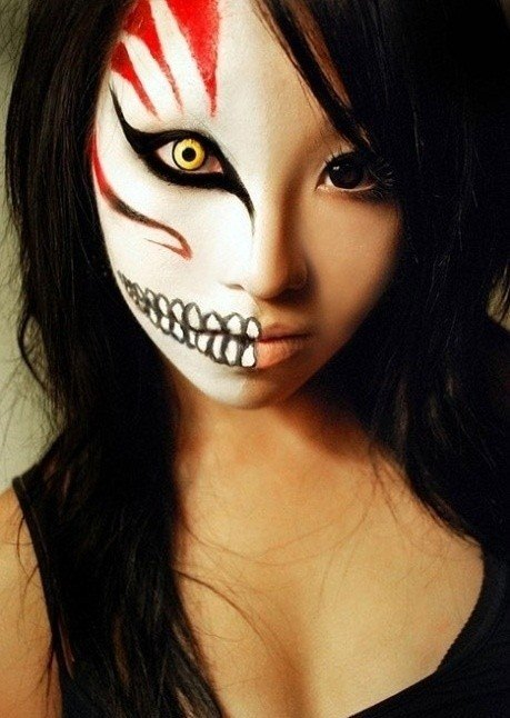 scary skeleton face paint ideas