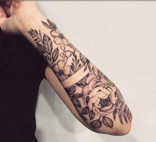 flower feminine forearm tattoos design ideas
