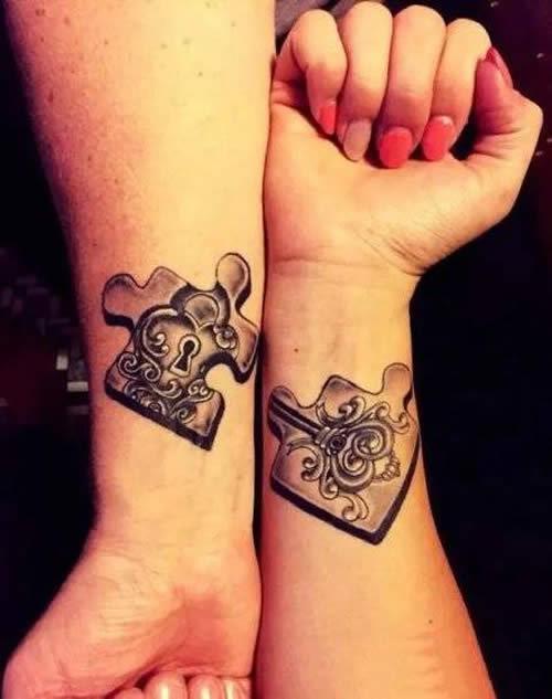 arm puzzles couple symbol tattoos images design