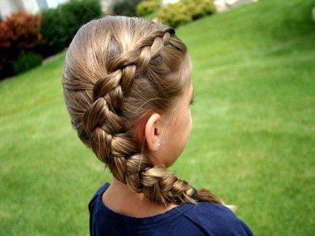 long hairstyle for short hair girl school ideas