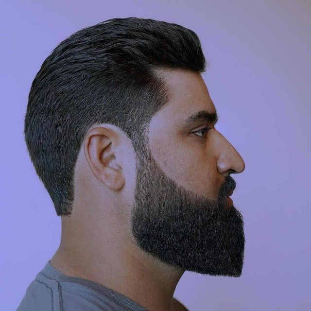 Different styles of beard
