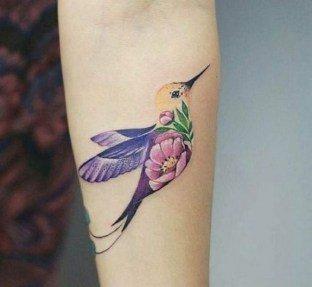 bird girl arm tattoo ideas