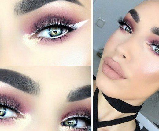 eyeshadow with white eyeliner