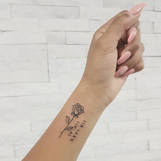 rose small tattoos for ladies on arm design images