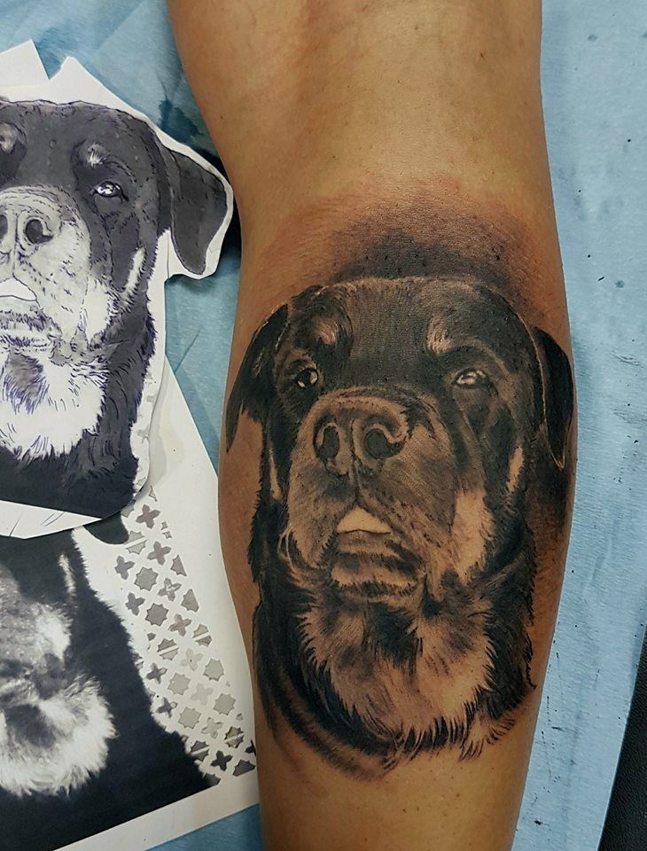 tattoos with dog paws