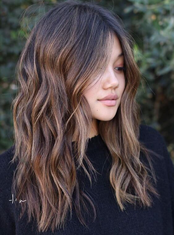 cool long aline bob with layers for ladies images