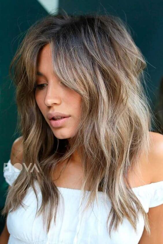 layered long hairstyles for over 35 female images