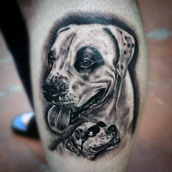 tattoos to remember your dog on leg design