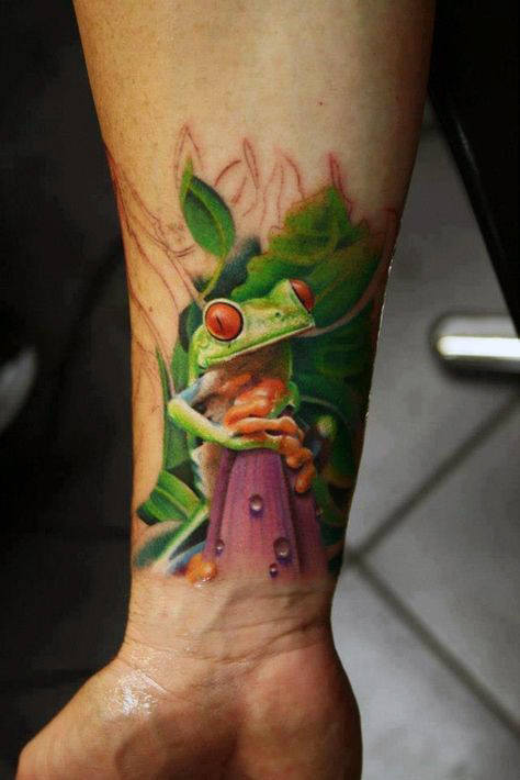 frog tattoo traditional