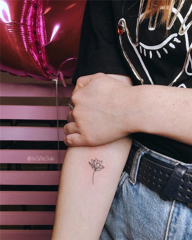 flower small beautiful tattoos for ladies on arm