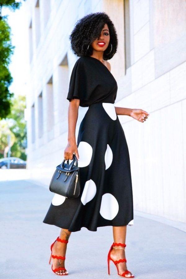 black smart casual work attire female