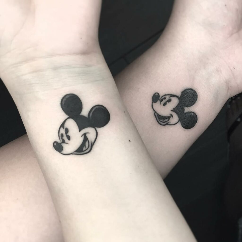 best husband and wife s mickey mouse tattoo
