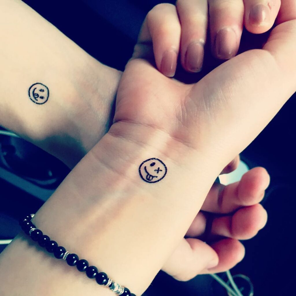 black emotion emoji tattoos for couples that have meaning