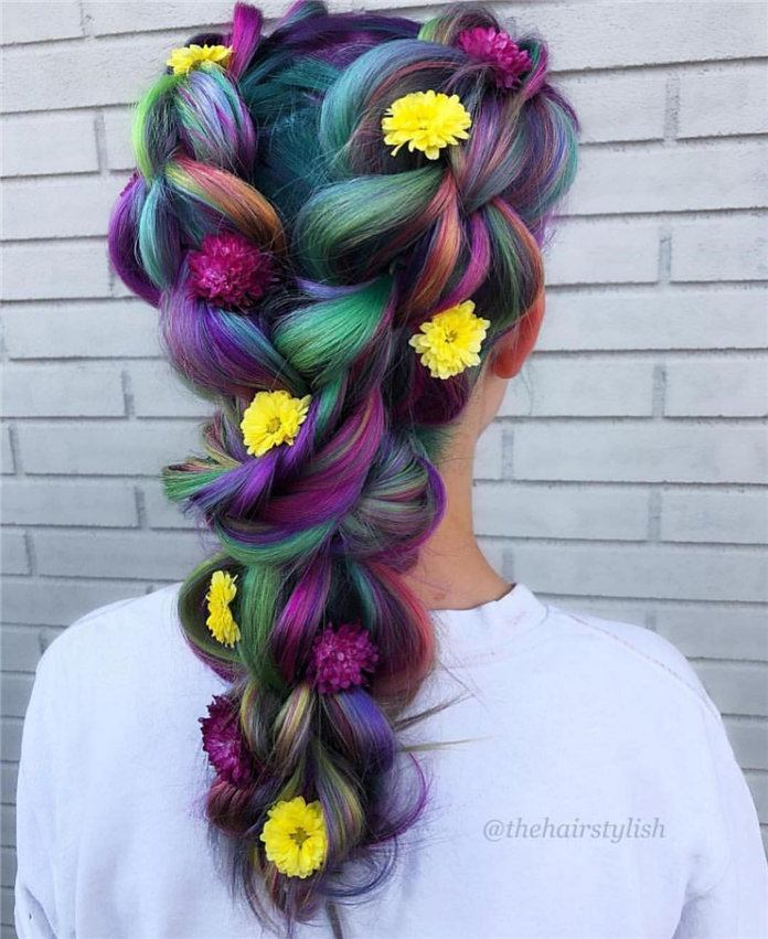 multicolor hair ideas for female images