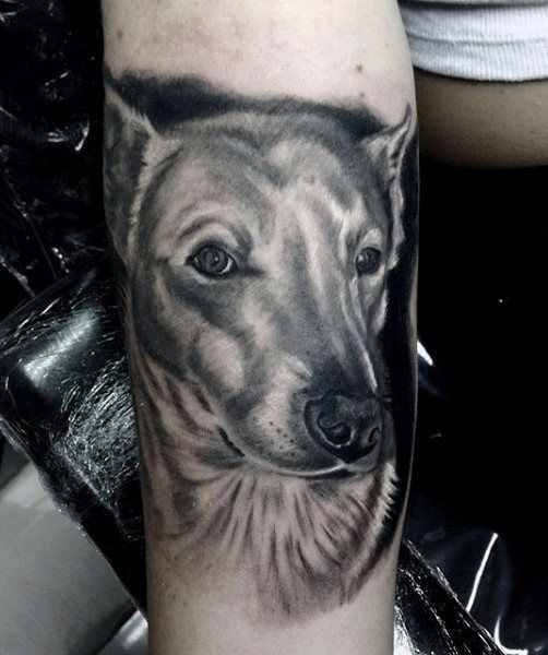 small dog print tattoo