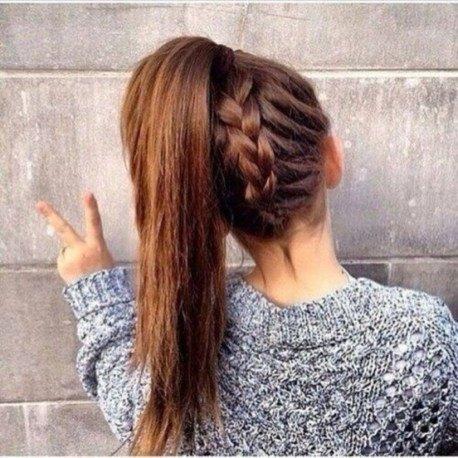 girls high ponytail long images
