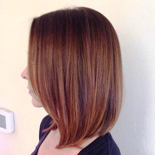 mid length hair for round face