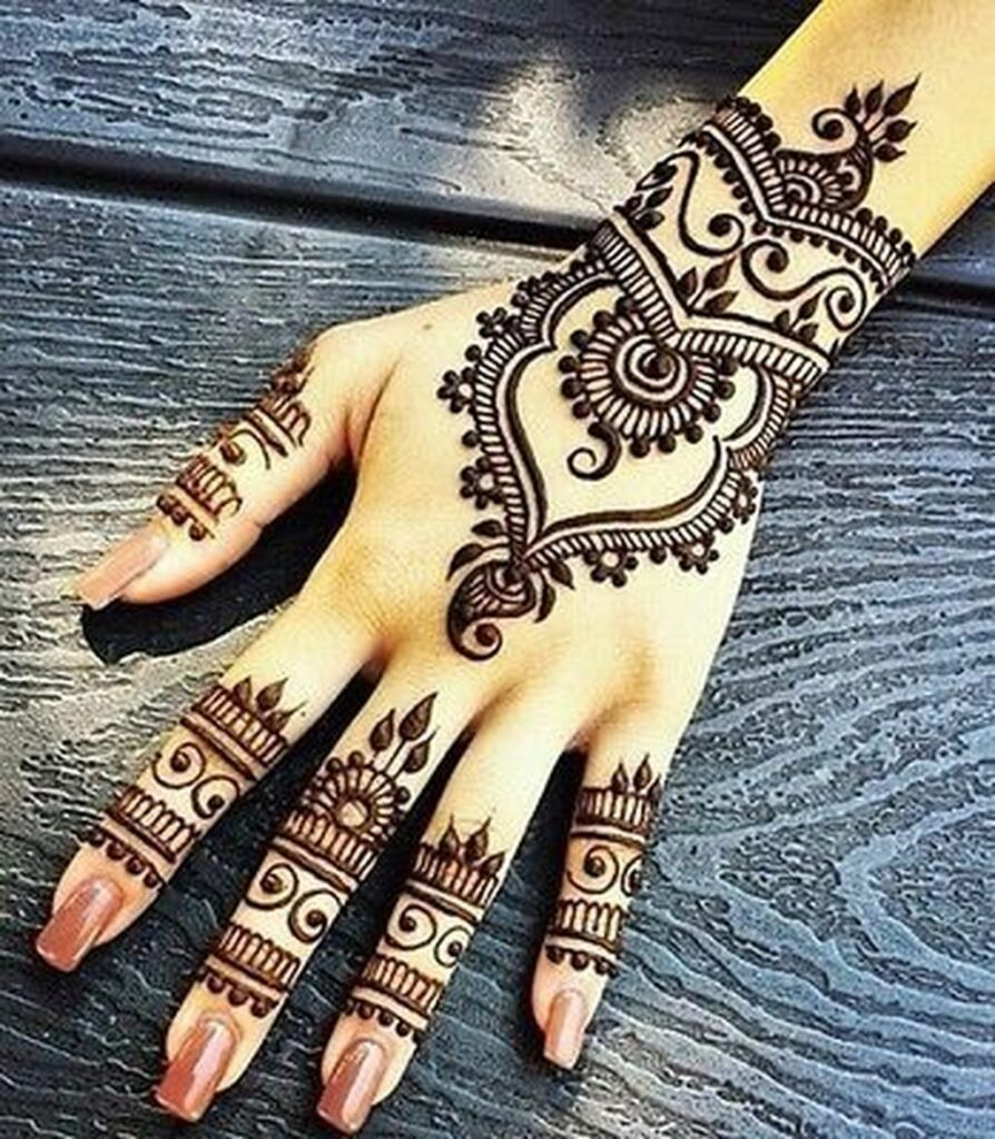 female hand best mehndi tattoo design