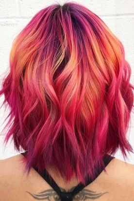 red short hair styles for ladies