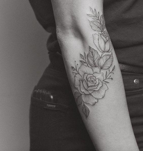 flower best tattoos for women's arms design
