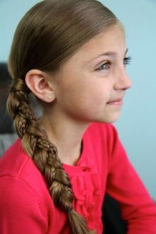 hair style girl ponytail for school