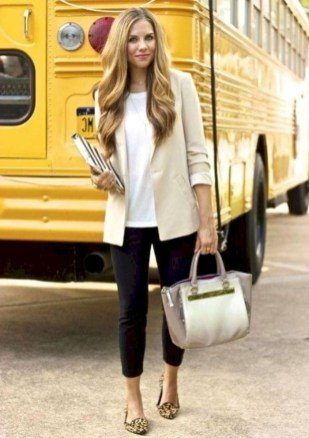 casual outfit work Black trousers