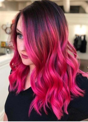 red and purple hair for long hair
