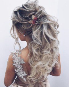 long hair up ideas for wedding anniversary