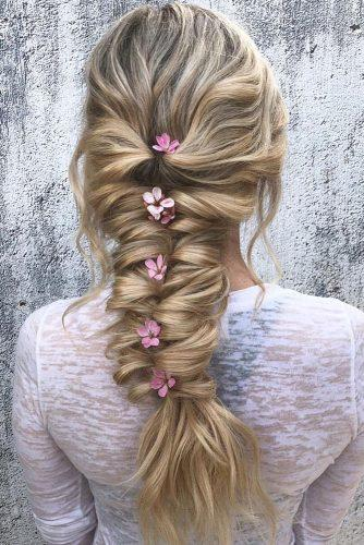 long hair wedding hairstyle