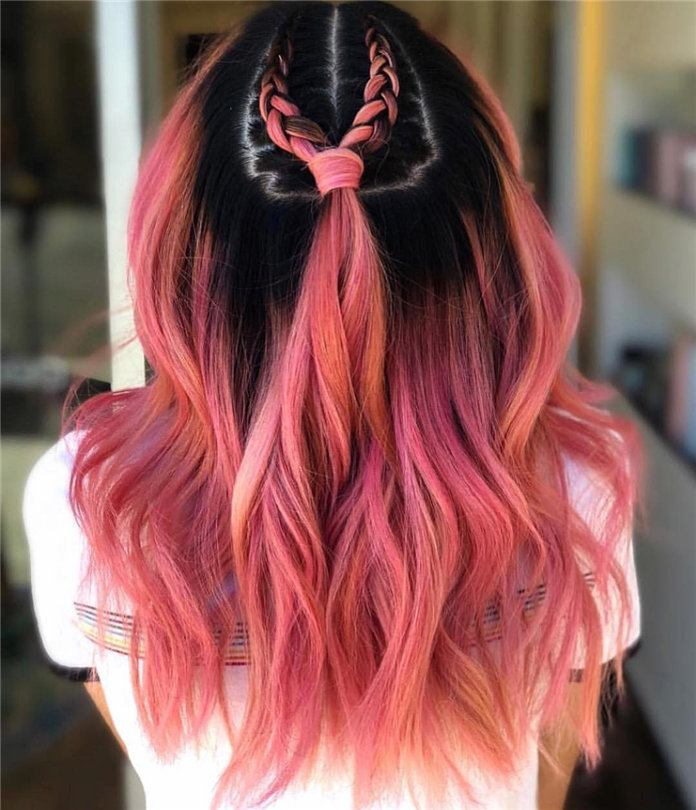 red color long hair ideas images