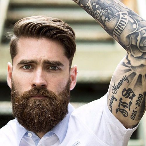 long hair and beard styles images